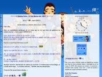 Segundo layout do a.k.a. Ikki!! no Blogspot (2006)