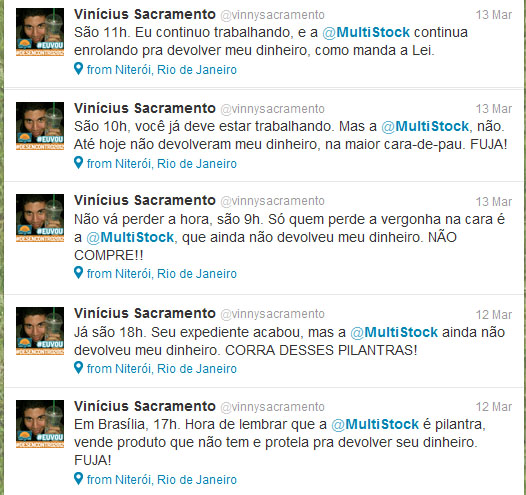 Twitts trollando a MultiStock