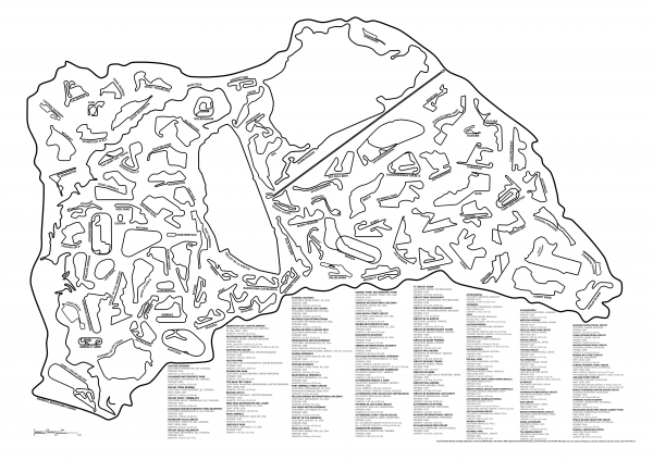 Dentro do traçado da Snaefell Mountain Course não cabe quase nada de pista... (clique pra ver BEM MAIOR!!)