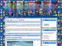Primeiro layout do a.k.a. Ikki!! em servidor próprio (2009-2010)