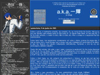 Segundo Layout do a.k.a. Ikki!! no Weblogger (2005)